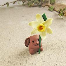 Rabbit Ornament with Daffodil