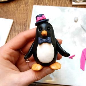 Penguin groom ornament