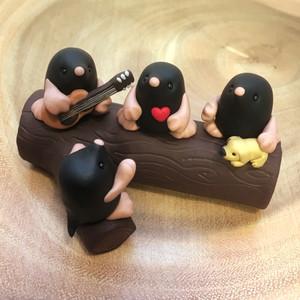 Mole family ornament
