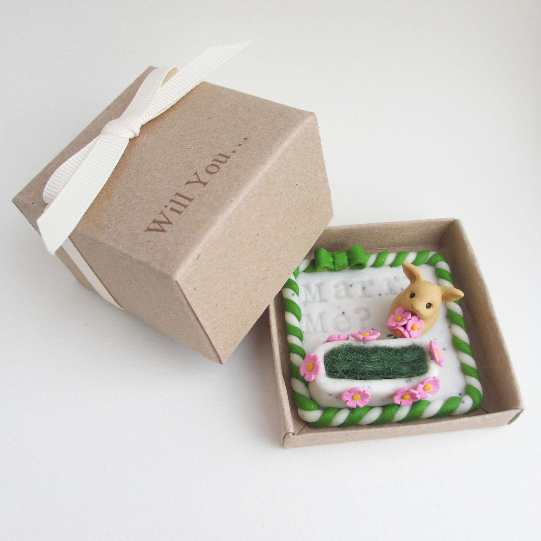 Bunny proposal ring box
