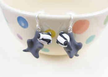 Badger earrings