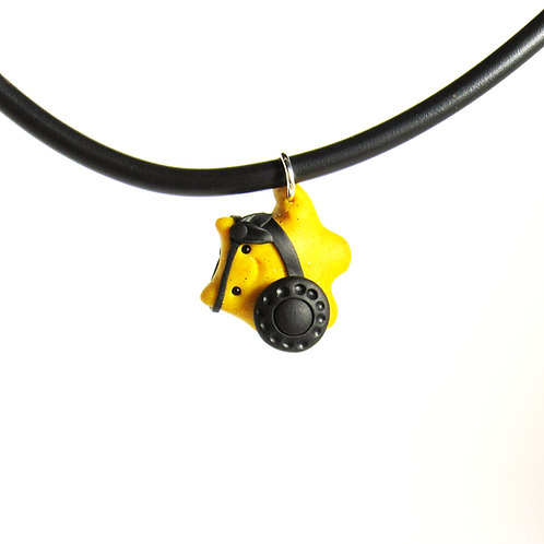 Yellow brave warrior choker necklace