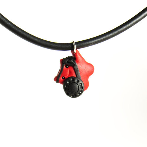 Red brave warrior choker necklace