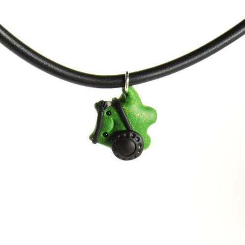 Green brave warrior choker necklace