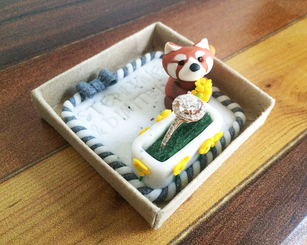 Red panda proposal keepsake