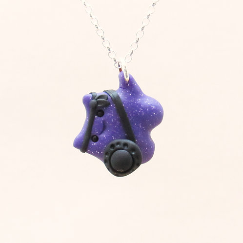 Purple brave warrior sterling silver necklace