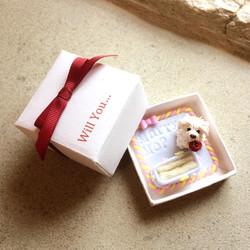 Custom dog engagement ring box