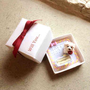 Puppy ring box