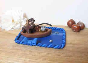Fishing otter cake topper
