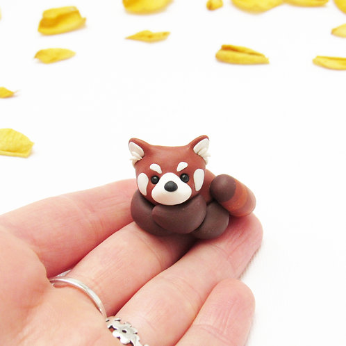 Tiny red panda ornament