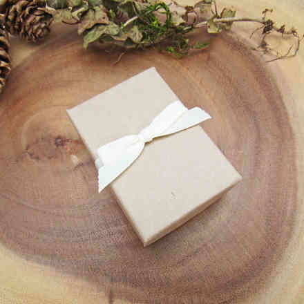 Recycled gift box with bow