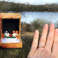 Badger and fox engagement ring box