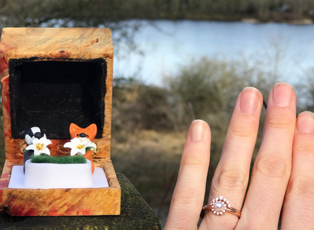 A perfect engagement ring box collaboration