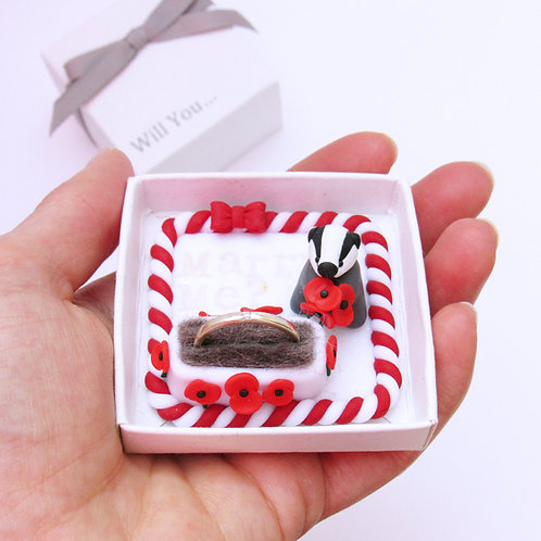 Badger engagement ring box