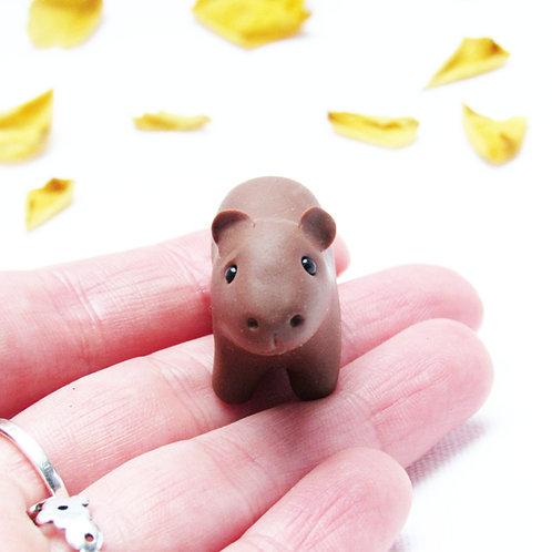 Tiny capybara ornament