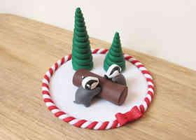 Badger Christmas cake topper