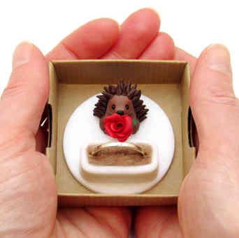 Keepsake ring box