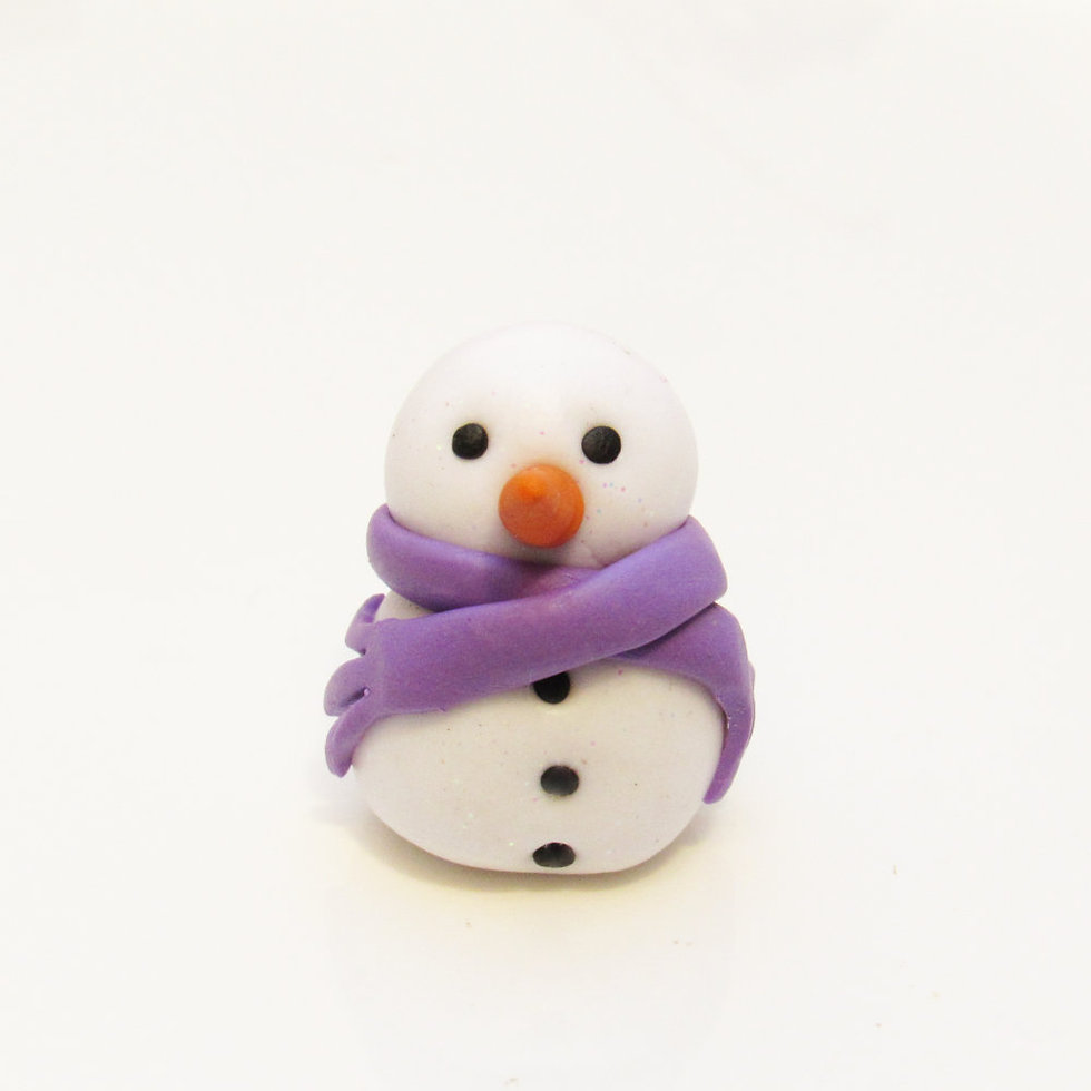 Tiny snowman ornament