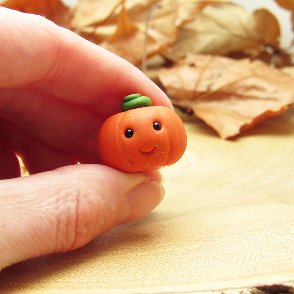 Tin pumpkin ornament