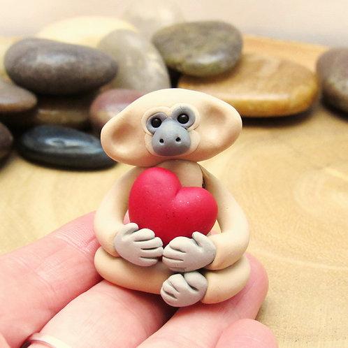 Valentine gibbon ornament