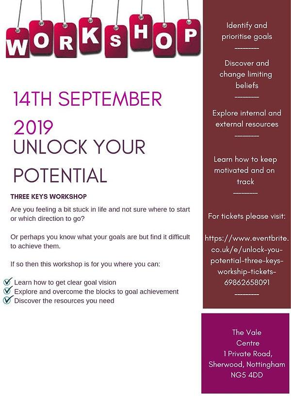 14th September 2019 unlock your potentia
