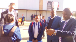 Curtis Nkondo students with SMART Techno