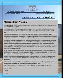Principals Message