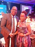 MEC P. Lusefi with Mrs. Ndzala