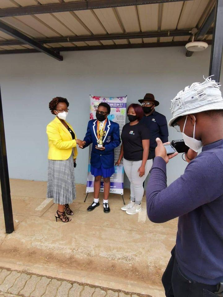 Kwanda Ndlovu of Grade 8 Debate Competiotion Winner 2020