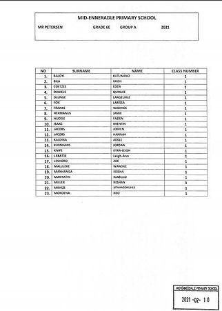 Grade 6E Group A