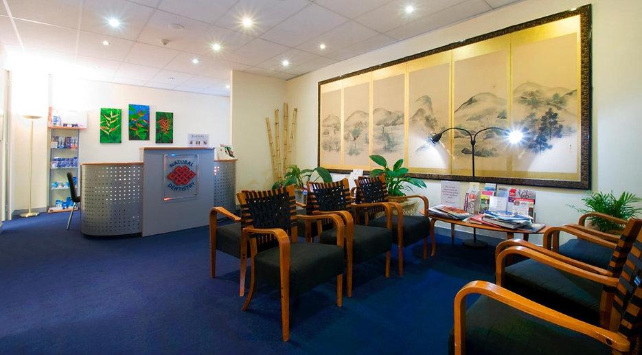 Natural Dentistry reception and waiting room