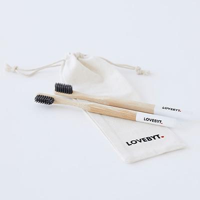 LoveByt Bamboo Toothbrush - 2pk