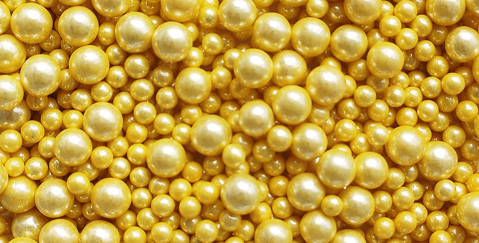 Yellow Gold Sparkling Sprinkle Pearls