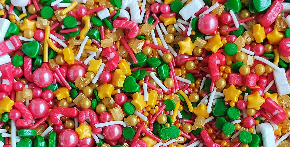 Holly Jolly  Sparkling Sprinkle Mix