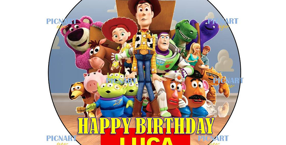 Toy Story inspired cake topper, Toy Story cup cake toppers. Edible images, icing