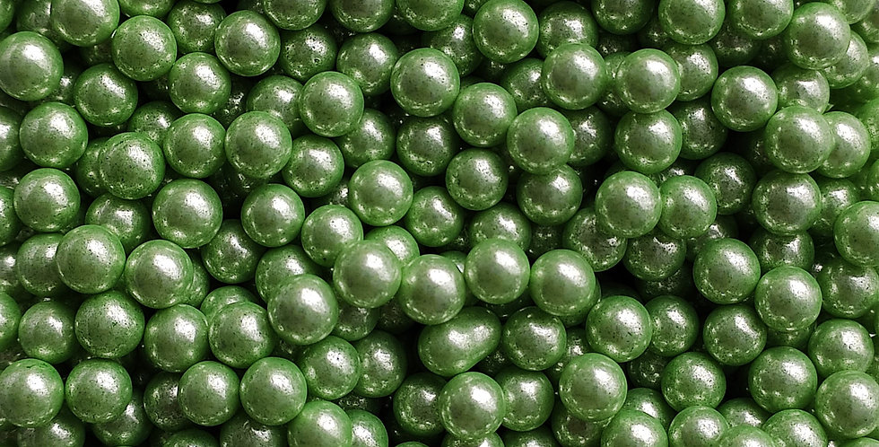 7mm Green Metallic Sprinkle Pearls, Cachous, Candy beads, Basics