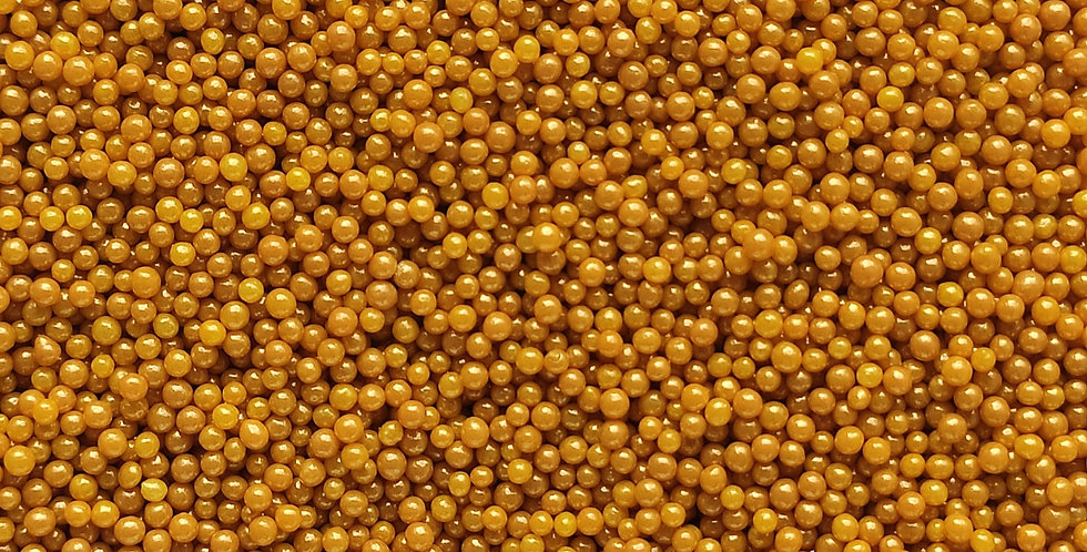 2mm Nugget Gold Nonpareils, 100's and 1000's, Sprinkle Pearls, Basics
