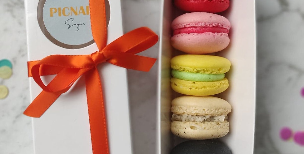 Assorted Macarons box of five ( Geelong and Melbourne city PICK UP only)