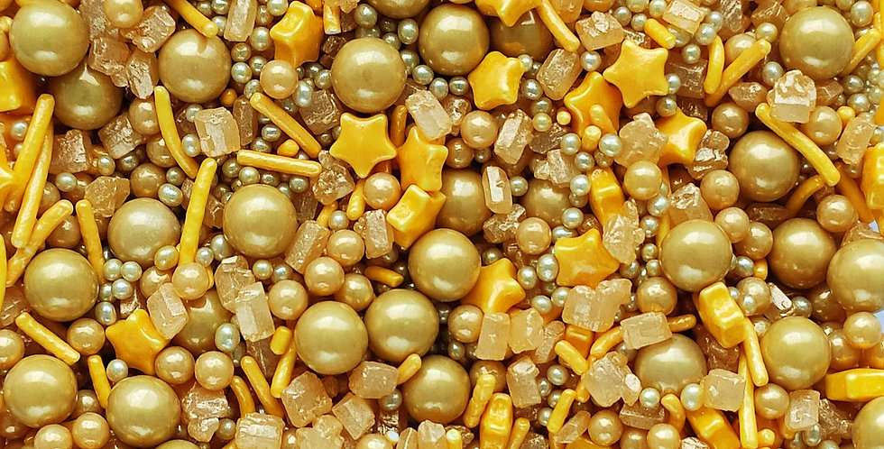 Gold Crush  Sparkling Sprinkle Mix