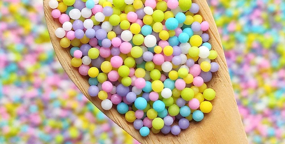 2mm  Multi pastel Nonpareils , Hundreds & Thousands,   Sparkling Sprinkles