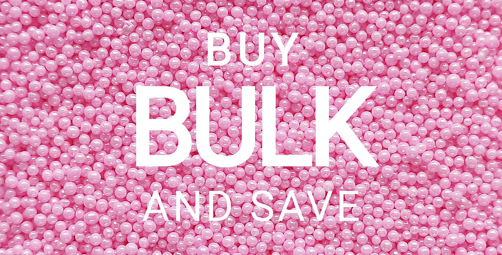 2mm Nonpareils , Hundreds & Thousands,  Pink Sprinkles