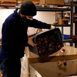 OneLight employee dumps box of fire starter into bin