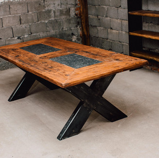 Fichten-Altholz-Tisch 240x110 cm