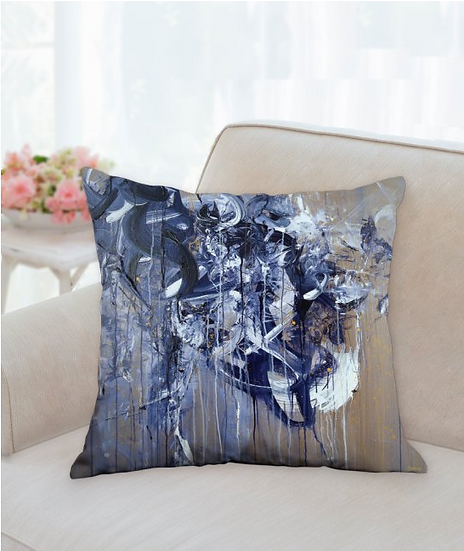 Painted by the Swallow cushion cover