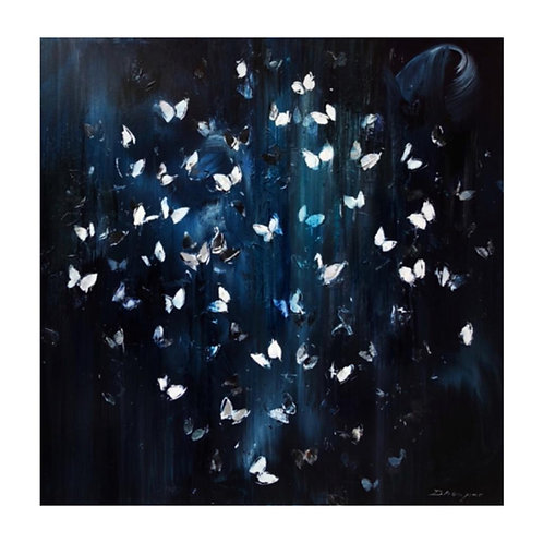 *SOLD* Flutter by Night White