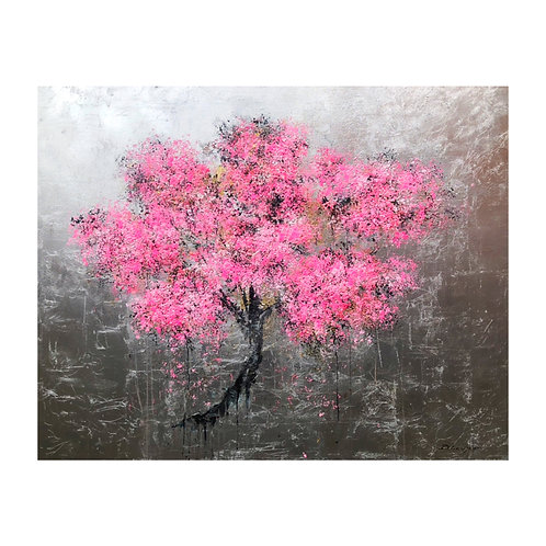 *SOLD* Cherry Blossom Silver Leaf