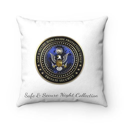 Faux Suede Square Pillow Case