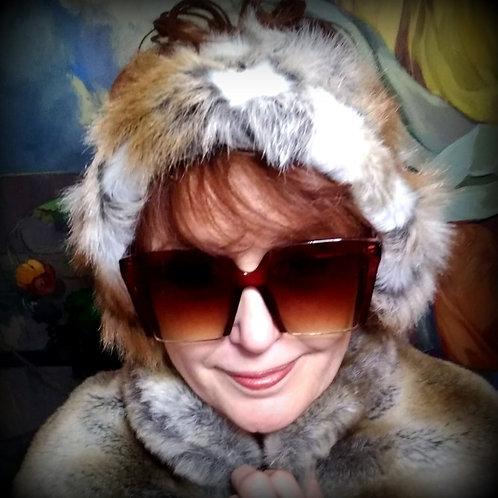 Faux Fur Tri-colored Head &  Neck Warmers