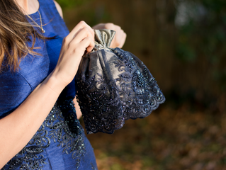 Something Blue or how to take a perfectly lovely dress up a few notches.