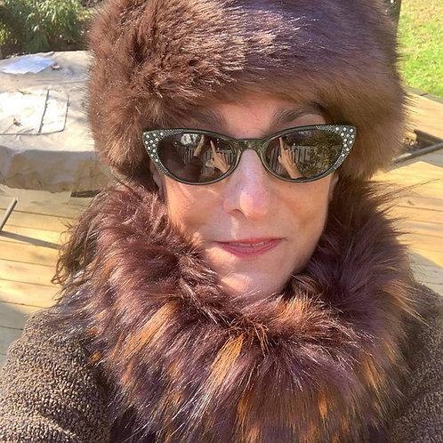 Brown Bear Faux Furry Head & Neck Warmers